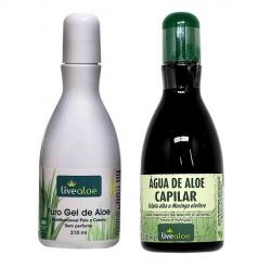 Kit Puro Gel de Aloe e Água Capilar de Aloe